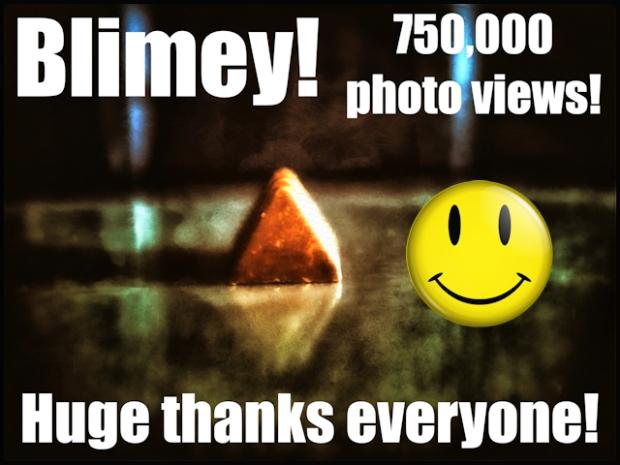 750000 thank yous blimey