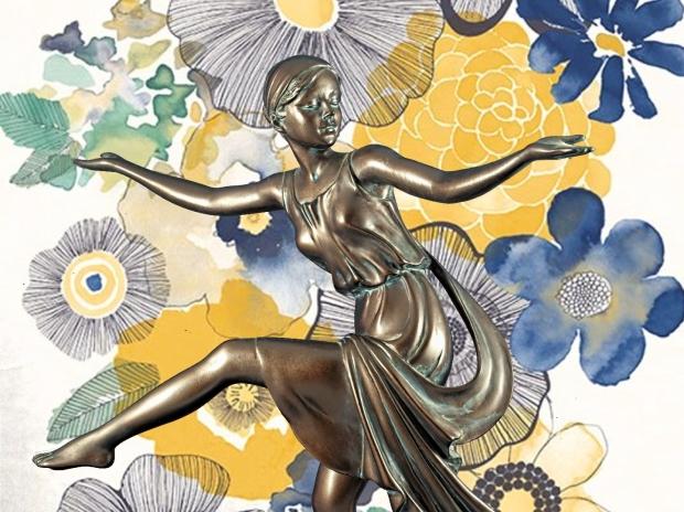 Chroma keying - Art Deco Figurine and background 14