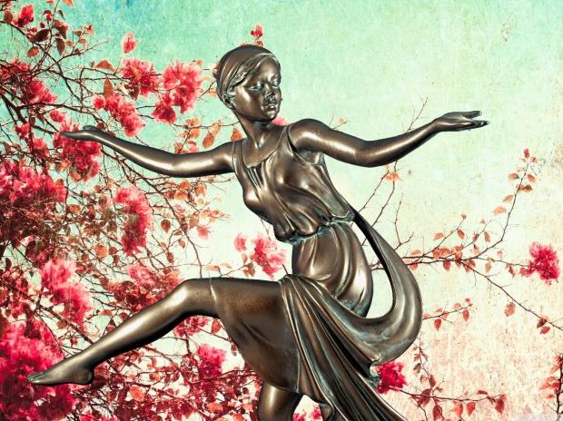 Chroma keying - Art Deco Figurine and background 15