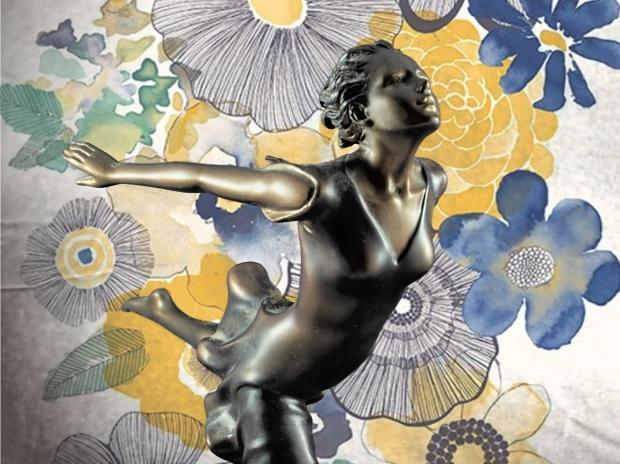 Chroma keying - Art Deco Figurine and background 3