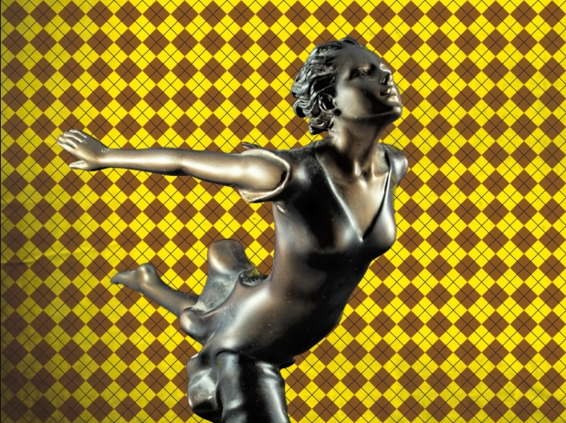 Chroma keying - Art Deco Figurine and background 5
