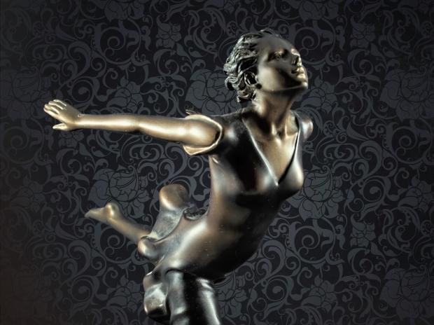 Chroma keying - Art Deco Figurine and background 6