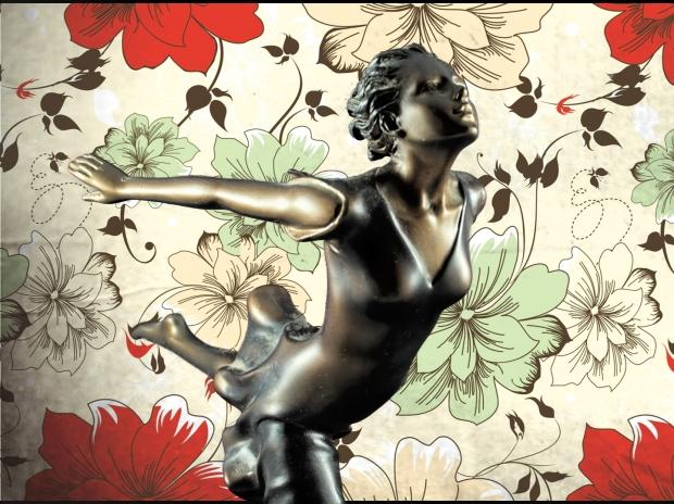 Chroma keying - Art Deco Figurine and background 7