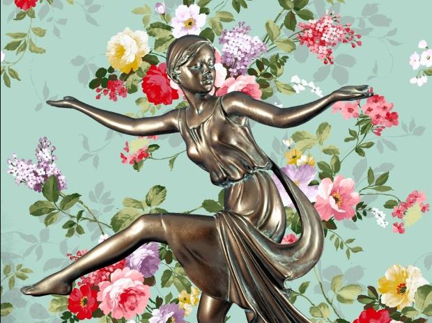 Chroma keying - Art Deco Figurine and background 8