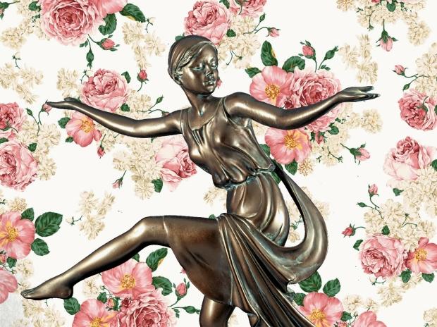 Chroma keying - Art Deco Figurine and background 9
